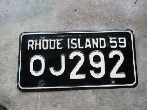 Rhode Island 1959 license plate #  OJ 292