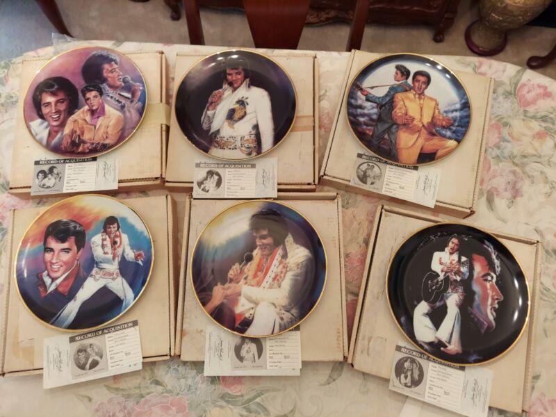 Elvis Presley collector plates- set of 6
