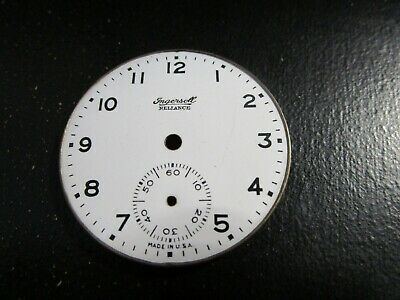 INGERSOLL RELIANCE Pocket Watch Dial Nice Watchmaker Repair Parts