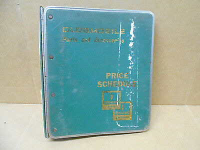 AWESOME Oldsmobile Parts and Accessories Binder Price Schedule VINTAGE Manual