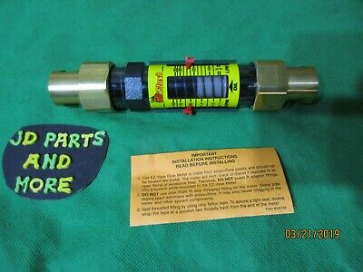 New Hedland 12 Ez-view Oil Flow Meter H624-110-s10 1.0 To 10 Gpm 220 Max Psi
