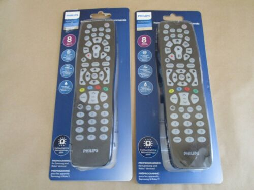 Lot of 2 Philips SRP9488C/07 8-IN-1 Universal Remote Controls