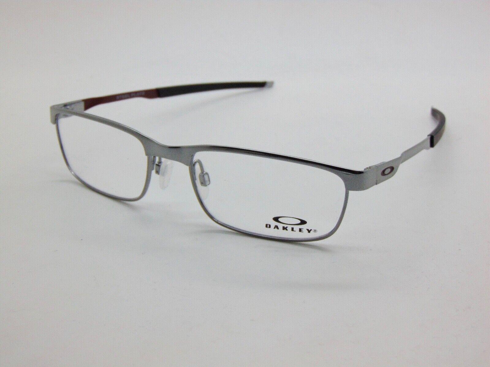 5d15d1df9ff Oakley NEW OAKLEY STEEL PLATE OX3222-0754 Gunmetal 54mm Rx Eyeglasses