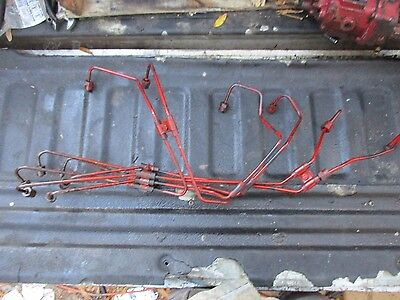 1972 International 1466 Turbo Diesel Farm Tractor Fuel Injector Lines Free Ship