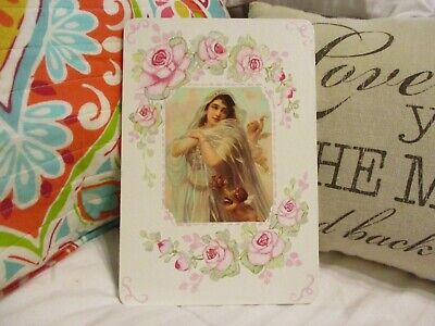 Shabby Chic Hand Painted Roses - Plaque with Roses