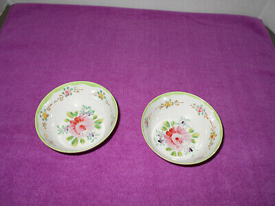 3 Bavaria Old Rose Sauce Dishes Vintage China Pink and Cream Small Porcelain Bowls