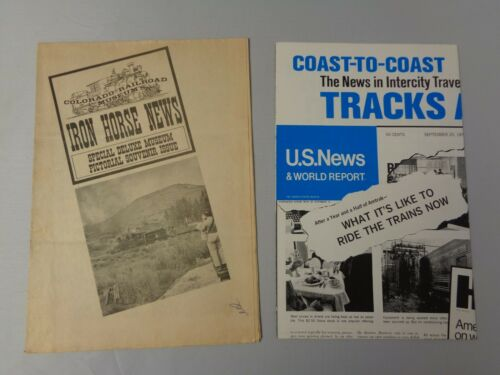 Lot of 2 vintage Railroad news Iron Horse News Colorado and Amtrak 1972