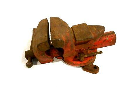 Vintage Dunlap Rotatingswivel Bench Vise Model 5244 Cast Iron