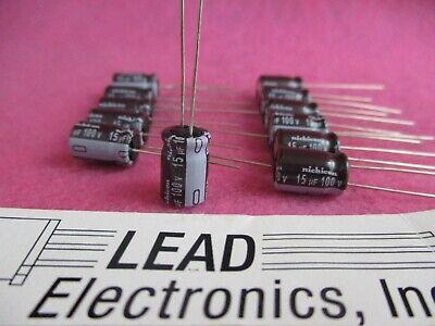 Qty 12 Nichicon 15uf 100-volt Radial 105-deg Low-esr Upw1a150mpd 15mfd 100v
