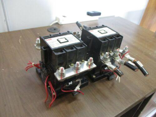 ABB Reversing Contactor EH 145C-*L 200A 600V *No Coil* Used