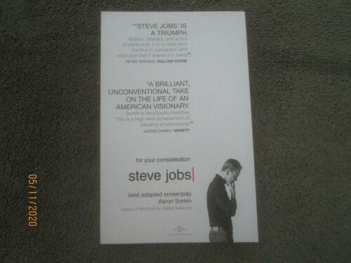 STEVE JOBS, Aaron Sorkin - For Your Consideration Screenplay (fine 2015 PB)