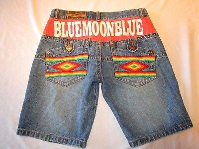 Blue Moon Cotton Shorts - Blue Moon Blue Original Wear jean shorts, size 28.  Unique!
