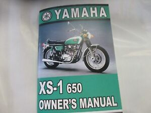 Yamaha XS1 owners manual   XS650