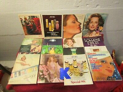 Lot of 16 Vintage Avon Brochure Catalogs 1970s Makeup Magazines