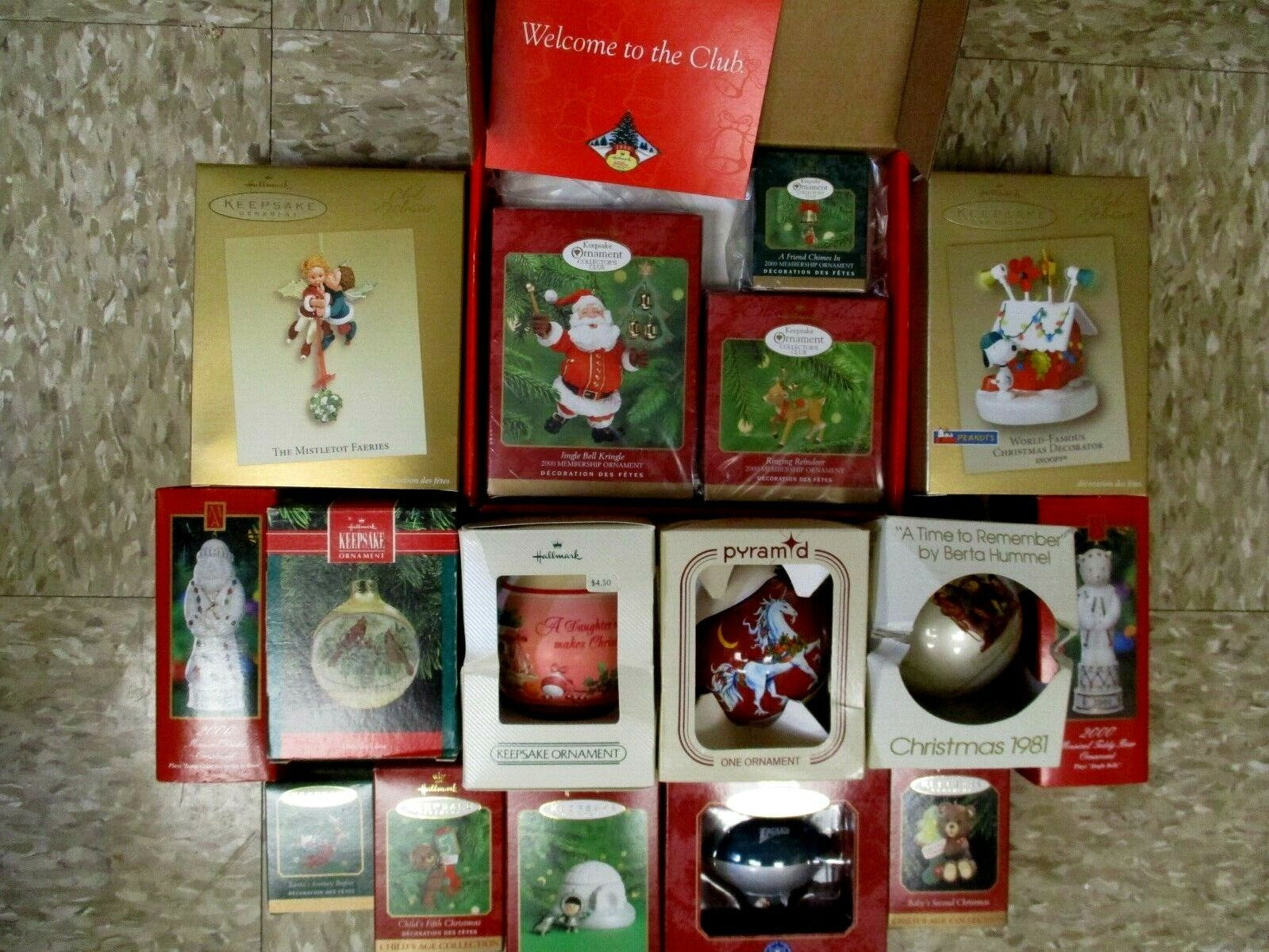 Vintage Hallmark Christmas Ornaments Lot Of 14 New In Box