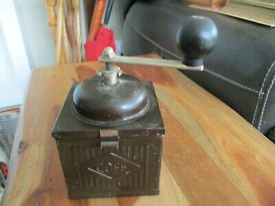 Vintage Hand Crank Metal Coffee Mill Grinder