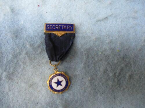 WWI American Legion Medal Secretary Bar Auxiliary Pin Back Marked WW1