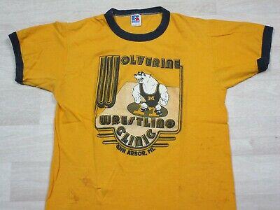 80s Tops, Shirts, T-shirts, Blouse   90s T-shirts Vintage 1980's Michigan Wolverines University Ringer T Shirt Wrestling Clinic M $49.50 AT vintagedancer.com
