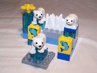 Yellow Motif Block Module LEGO Duplo 1x2 2er High Fish IN The Bucket