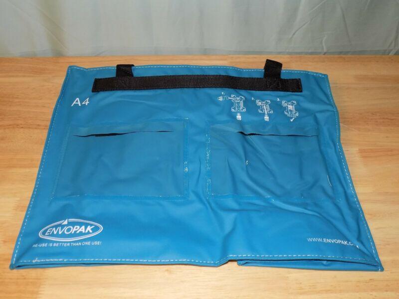 "Envopak A4 Reusable Bag 15"" x 12"" 2 Pack Blue Color Security Mailing Bag Only"