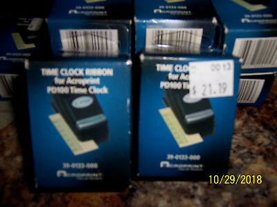 3 New Acroprint Time Clock Ribbon Pd122 Pd100 39-0133-000 Free Ship