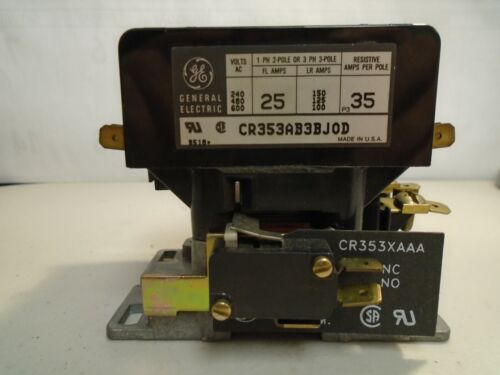 """GE GENERAL ELECTRIC CONTACTOR CR353AB3BJ0D; """"USED"""""""