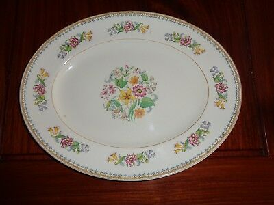 Maddock& Sons England Vitreous B Floral Platter CELESTE