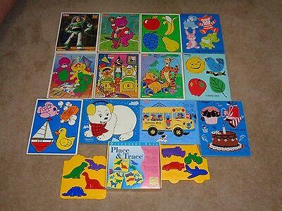 Day Care - Huge Preschool Wooden Puzzle Lot~~Playskool~Matel~~VARIEY~VINTAGE