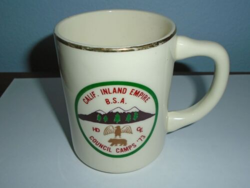 1973 Calif. Inland Empire Council Camps Boy Scouts of America BSA Coffee Mug Cup