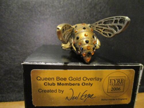 Harmony Kingdom Artist Neil Eyre Queen Bee Gold Overlay Bling Crystals Club SG