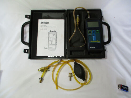 Extech Heavy Duty Differential Pressure Manometer Model 407910 With Case