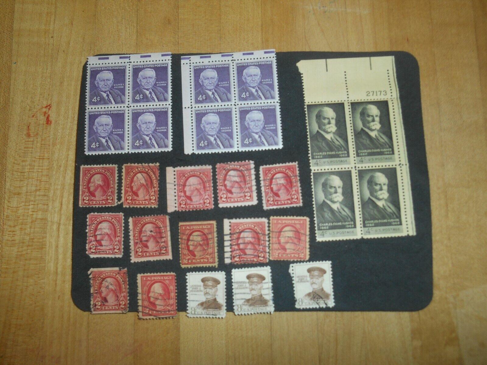 1195 4c Charles Evans Hughes. 1170 Walter F George 4c. 15 Used US Stamps. - $1.50