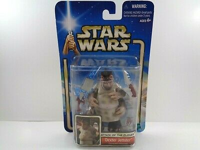 Star Wars Dexter Jettster Action Figure Saga Series #16 2002 NIB 3.75""