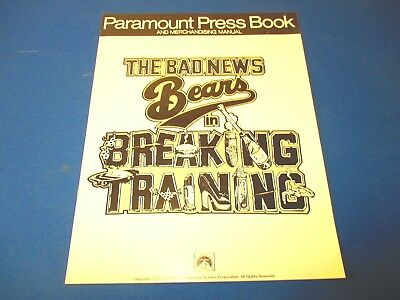 "Movie Pressbook ""The Bad News Bears in Breaking Training"" Paramount 1977"