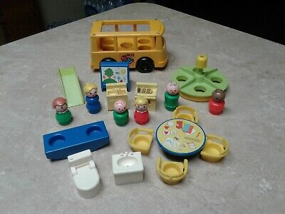 Vintage Fisher Price Little People Accessories for Nursery School