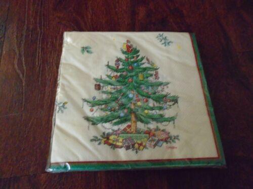 SPODE CHRISTMAS TREE LUNCHEON NAPKINS NEW 16ct