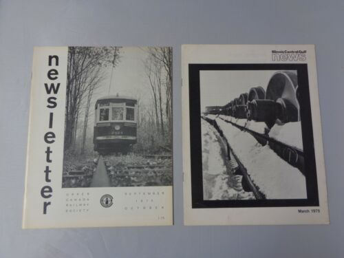 Lot of 2 vintage Railroad news Upper Canada 1973 and Illinois Central Gulf 1979