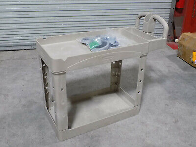 Rubbermaid 2-shelf Utility Cart 500 Lb. Capacity 38 X 17 X 32 Fg450088beig