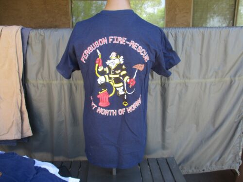 Vtg Ferguson, MO Fire Department T Shirt, Rescue, St Louis Missouri