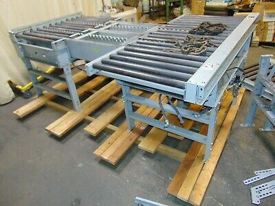 Hytrol Powered Roller Transfer Conveyor Sections With Drives 30 Roller