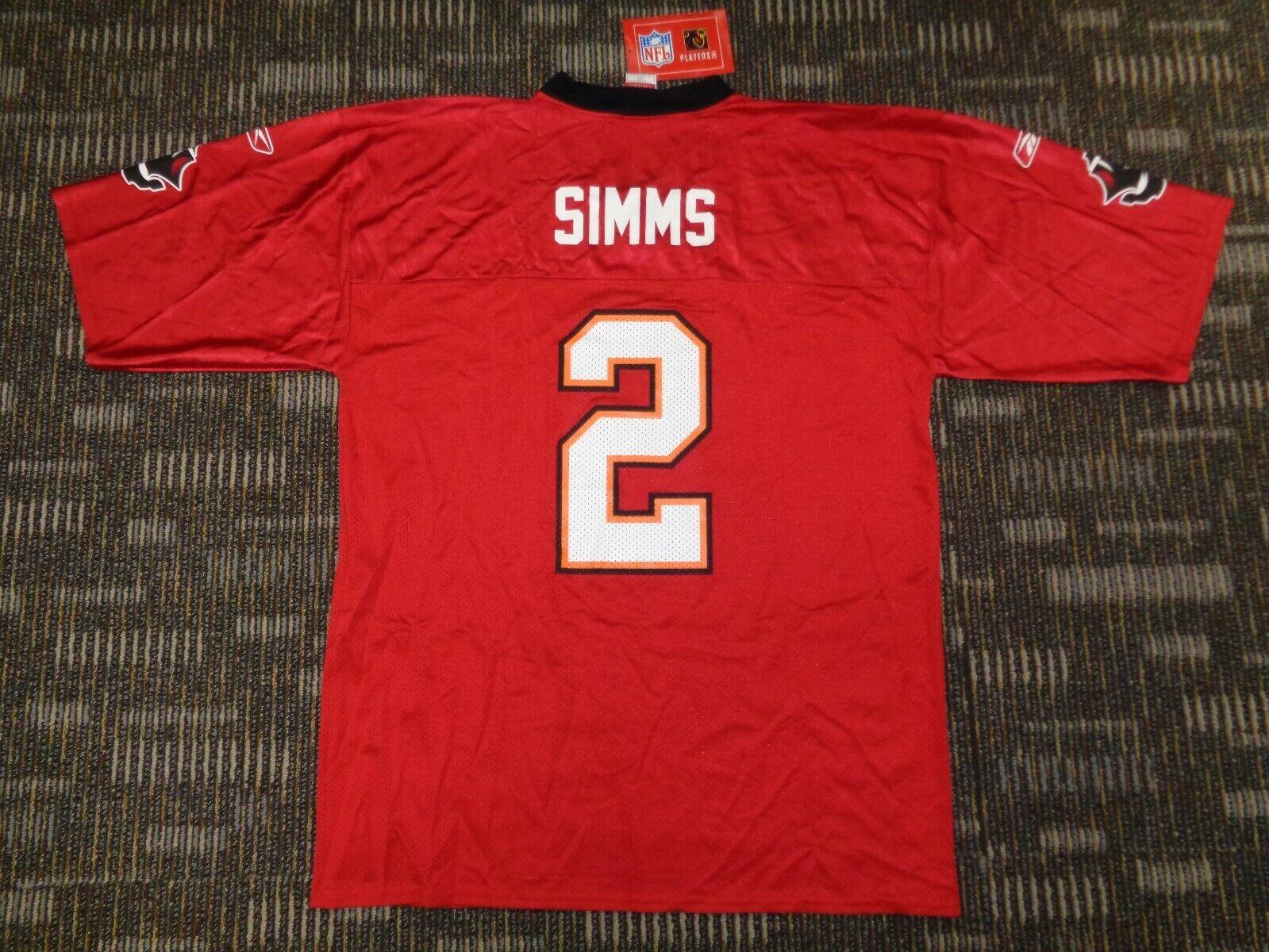 2-MIKE ALSTOTT CHRIS SIMMS TAMPA BAY BUCCANEERS REEBOK STARTER NFL GAME JERSEYS - $59.99
