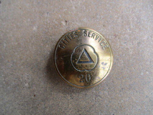 vintage Cities Service CITGO metal gas gasoline employee ID badge pin