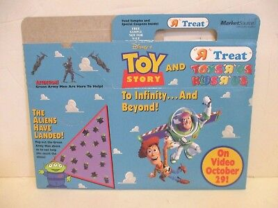 DISNEY PIXAR TOY STORY ON VIDEO TOYS R US STORE PROMO