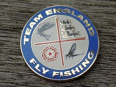 Old(ish) TEAM ENGLAND FLY FISHING Enamel Fishing Angling Pin Badge