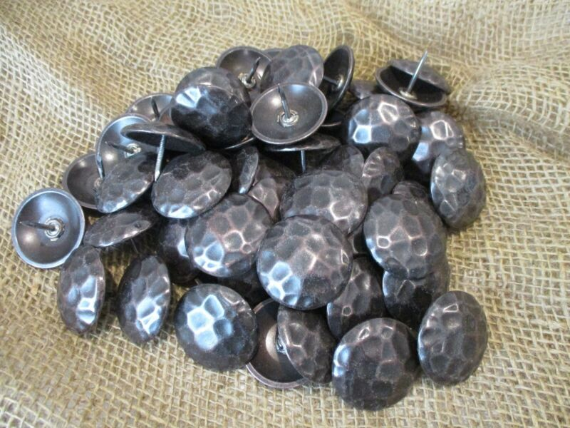 """50 Clavos Decorative Furniture Nail Heads Rustic Oil Rubbed 1 1/2"""" Tacks Tack"""