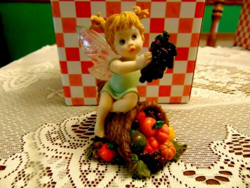 "2003 Enesco My Little Kitchen Fairies "" Bounty Fairie "" IOB"