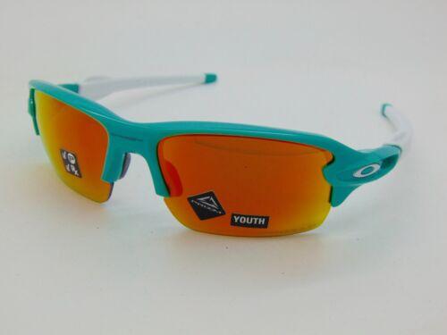 OAKLEY Youth FLAK XS OJ9005-0759 Celeste/Prizm Ruby Polarized Sunglasses