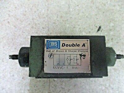 Double A Nnyyc-3 10a1 Hydraulic Valve 1017846d Used