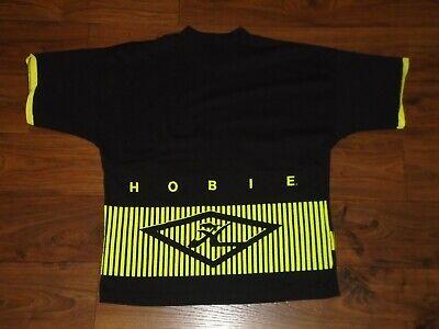 80s Tops, Shirts, T-shirts, Blouse   90s T-shirts RARE Vintage 1980s Hobie Surfing Black Short Sleeve Shirt w Yellow Logo Medium M $23.99 AT vintagedancer.com