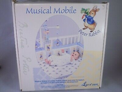 Beatrix Potter Peter Rabbit Baby Musical Mobile Luv n' care NIB Free Shipping